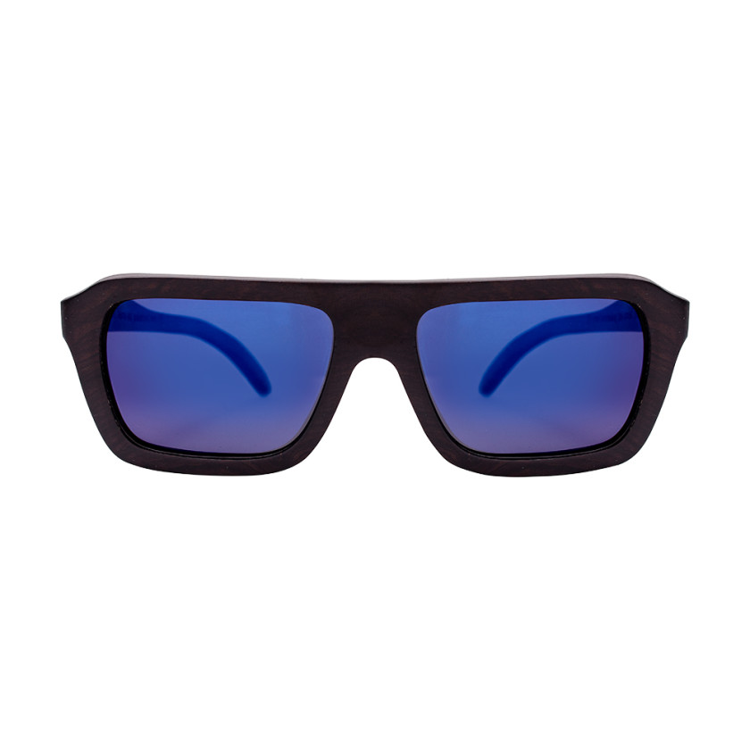 Bad Blue Houten zonnebrillen
