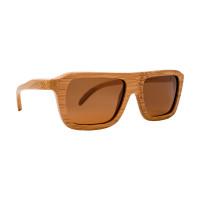 Michigan Zijaanzicht houten zonnebril